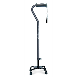 AMG QUAD CANE AIRGO SMALL BASE BLACK